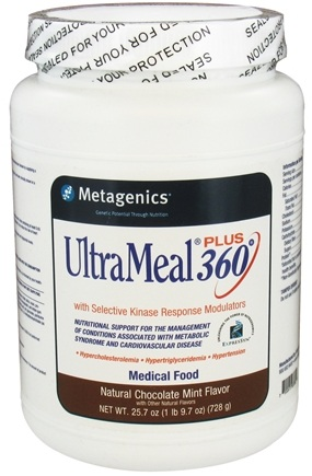 DROPPED: Metagenics - UltraMeal Plus 360 Medical Food Natural Chocolate Mint Flavor - 25.7 oz.
