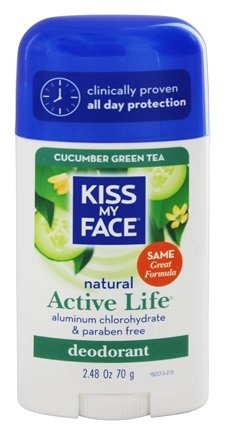 Kiss My Face - Natural Active Life Deodorant Stick Aluminum Free Cucumber Green Tea - 2.48 oz.