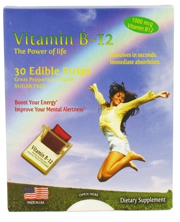 DROPPED: Neutralean - Vitamin B-12 The Power of Life Peppermint 1000 mcg. - 30 Strip(s) CLEARANCED PRICED