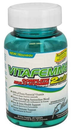 DROPPED: AllMax Nutrition - VitaFemme 2-a-day Complete Multi-Vitamin for Women - 60 Tablets CLEARANCED PRICED
