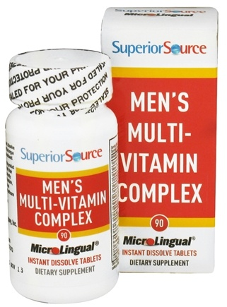 DROPPED: Superior Source - Men's Multi-Vitamin Complex Instant Dissolve - 90 Tablet(s) CLEARANCE PRICED