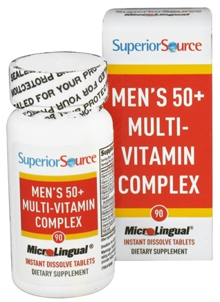 DROPPED: Superior Source - Men's 50+ Multi-Vitamin Complex Instant Dissolve - 90 Tablet(s)