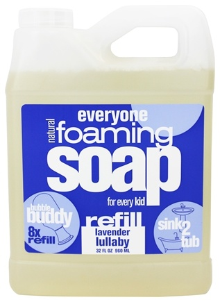 DROPPED: EO Products - Everyone for Kids Bubble Buddy Foaming Soap Refill Lavender Lullaby - 32 oz.