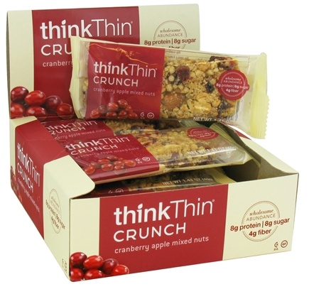 DROPPED: Think Products - thinkThin Crunch Bar Cranberry Apple Mixed Nuts - 1.41 oz.