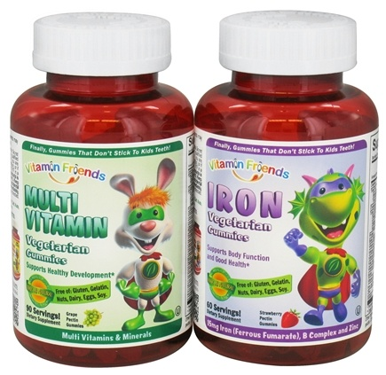 DROPPED: Vitamin Friends - Iron 60 Gummies with Multi Vitamin 90 Gummies Bundle Pack - CLEARANCE PRICED