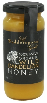 Wedderspoon Organic - 100% Raw Organic Wild Dandelion Honey - 11.46 oz.
