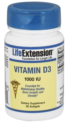 DROPPED: Life Extension - Vitamin D3 1000 IU - 90 Softgels CLEARANCED PRICED