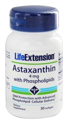 DROPPED: Life Extension - Astaxanthin with Phospholipids - 30 Softgels