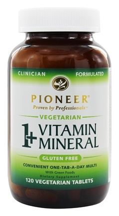 DROPPED: Pioneer - 1+ Vitamin Mineral - 120 Vegetarian Tablets