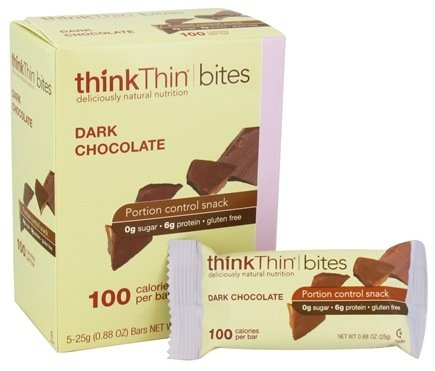DROPPED: Think Products - thinkThin Bites Dark Chocolate - 5 Bars CLEARANCE PRICED
