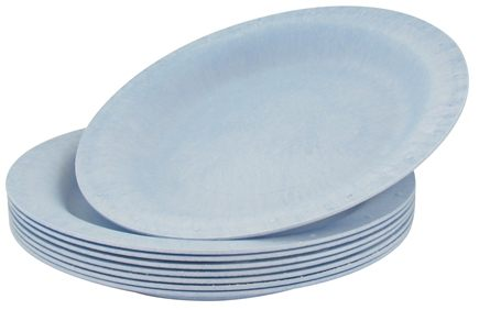 "DROPPED: Susty Party - Compostable Disposable Plates 10"" Light Blue - 8 Count CLEARANCED PRICED"