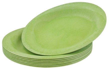 "DROPPED: Susty Party - Compostable Disposable Plates 10"" Light Green - 8 Count CLEARANCE PRICED"
