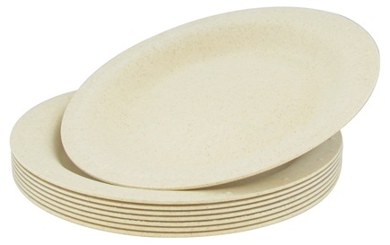 "DROPPED: Susty Party - Compostable Disposable Plates 10"" Natural - 8 Count CLEARANCE PRICED"