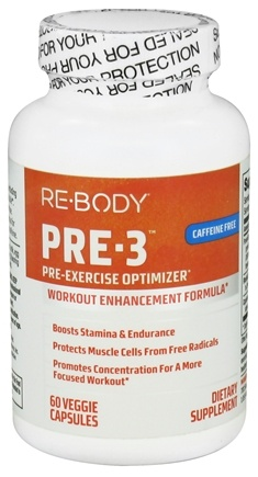 DROPPED: ReBody - PRE-3 Pre-Exercise Optimizer (Caffeine Free) - 60 Vegetarian Capsules CLEARANCED PRICED