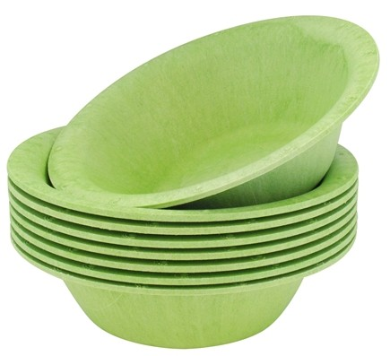 DROPPED: Susty Party - Compostable Disposable Bowls 12 oz. Light Green - 8 Count CLEARANCED PRICED