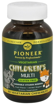 DROPPED: Pioneer - Children's Multi Vegetarian Fruit Flavor - 60 Chewables CLEARANCE PRICED