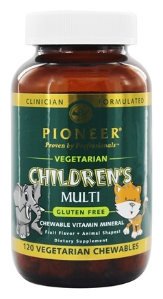 Pioneer - Children's Multi Vegetarian Fruit Flavor - 120 Chewables