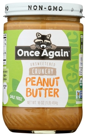 Once Again - Organic Peanut Butter Crunchy No Salt - 16 oz.