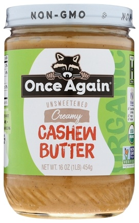 Once Again - Organic Cashew Butter - 16 oz. LUCKY PRICE
