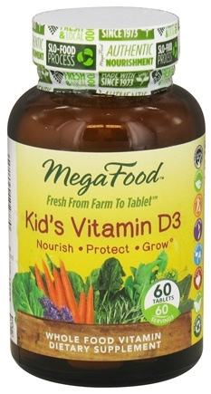 DROPPED: MegaFood - Kid's Vitamin D3 - 60 Tablets CLEARANCE PRICED