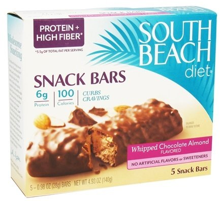 DROPPED: South Beach Diet - Snack Bars Whipped Chocolate Almond - 5 Bars