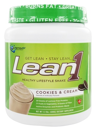 DROPPED: Nutrition 53 - Lean1 Performance Shake Cookies & Cream - 1.3 lbs.