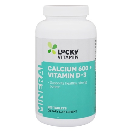 LuckyVitamin - Calcium 600 Plus Vitamin D-3 - 225 Tablets