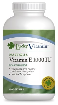 DROPPED: LuckyVitamin - Natural Vitamin E 1000 IU - 100 Softgels CLEARANCE PRICED