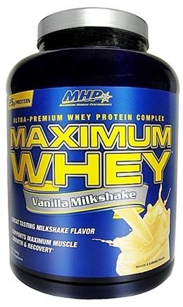 DROPPED: MHP - Maximum Whey Ultra-Premium Whey Protein Complex Vanilla Milkshake - 5 lbs. CLEARANCED PRICED