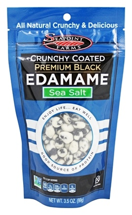 SeaPoint Farms - Edamame Crunchy Coated Premium Black Sea Salt - 3.5 oz.