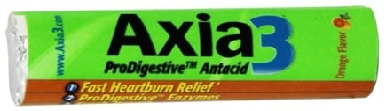 DROPPED: Axia3 - ProDigestive Antacid Fast Heartburn Relief Orange Flavor - 12 Chewable Tablets