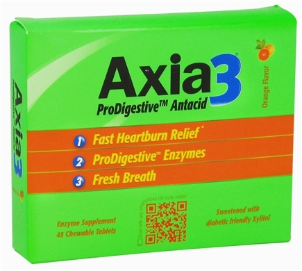 DROPPED: Axia3 - ProDigestive Antacid Fast Heartburn Relief Orange Flavor - 45 Chewable Tablets