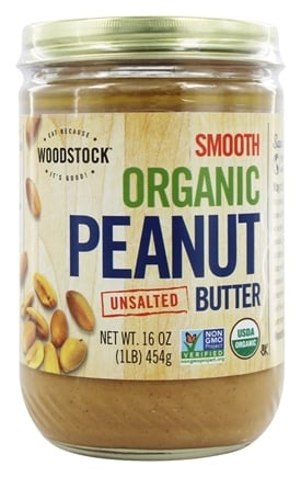 Woodstock Farms - Organic Peanut Butter Smooth Unsalted - 16 oz.