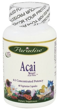 DROPPED: Paradise Herbs - Acai 400 mg. - 60 Vegetarian Capsules CLEARANCED PRICED
