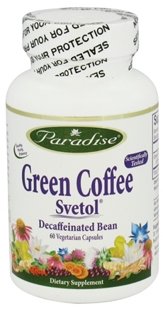 DROPPED: Paradise Herbs - Green Coffee with Svetol - 60 Vegetarian Capsules