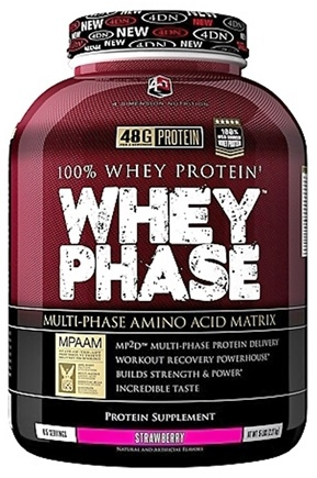 DROPPED: 4 Dimension Nutrition - 100% Whey Protein Whey Phase Strawberry - 5 lbs. CLEARANCED PRICED