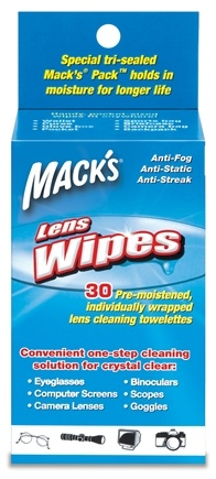DROPPED: Mack's - Lens Wipes Cleaning Towelettes - 30 Towelette(s) CLEARANCED PRICED