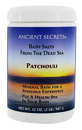 DROPPED: Ancient Secrets - Aromatherapy Dead Sea Mineral Bath Patchouli - 2 lbs.