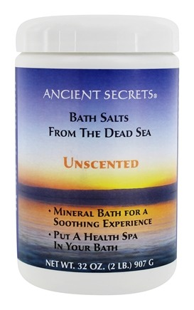 DROPPED: Ancient Secrets - Aromatherapy Dead Sea Mineral Bath Unscented - 2 lbs. CLEARANCE PRICED