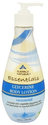DROPPED: Clearly Natural - Glycerine Body Lotion Unscented - 12 oz. CLEARANCED PRICED