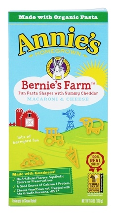 DROPPED: Annie's Homegrown - Macaroni & Cheese Bernie's Farm - 6 oz. CLEARANCED PRICED
