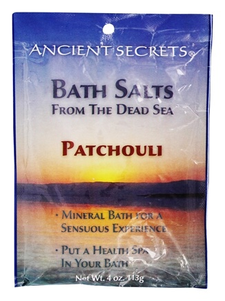 DROPPED: Ancient Secrets - Aromatherapy Dead Sea Mineral Bath Patchouli - 4 oz. CLEARANCED PRICED