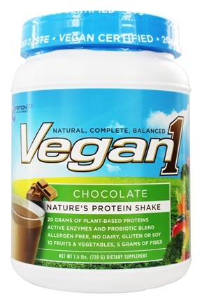 Nutrition 53 - Vegan1 Protein Shake Chocolate - 1.6 lbs.