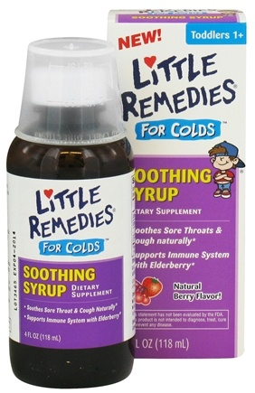 DROPPED: Little Remedies - Soothing Syrup For Colds Berry Flavor - 4 oz. CLEARANCED PRICED
