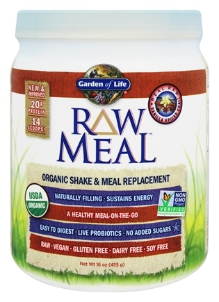 Garden of Life - RAW Meal Organic Shake & Meal Replacement Vanilla Spiced Chai - 16 oz.