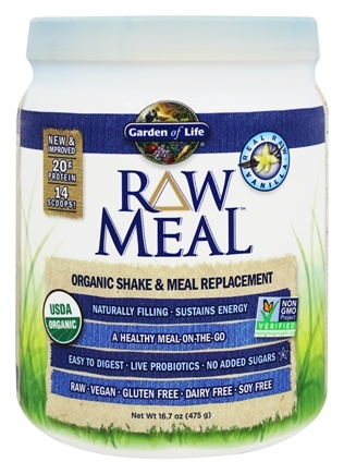 Garden of Life - RAW Meal Organic Shake & Meal Replacement Vanilla - 16.7 oz.