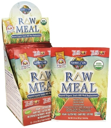 DROPPED: Garden of Life - Raw Meal Beyond Organic Snack and Meal Replacement Vanilla Spiced Chai - 10 x 2.8 oz. Packets CLEARANCE PRICED