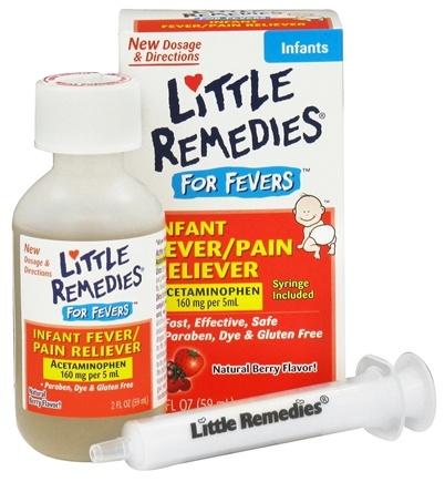 DROPPED: Little Remedies - Infant Fever/Pain Reliever For Fevers Berry Flavor - 2 oz. CLEARANCE PRICED