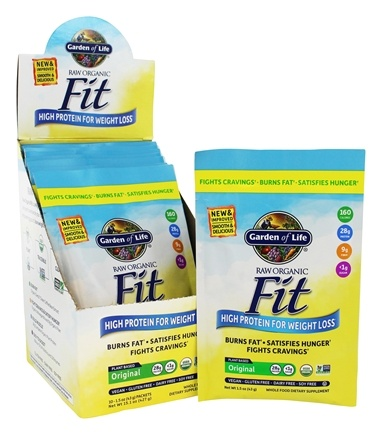 Garden of Life - Raw Fit High Protein for Weight Loss - 10 Packet(s)