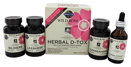 Garden of Life - Wild Rose Herbal D-Tox Complete 12-Day Kit